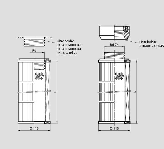 вакуум аспирация фильтр 115