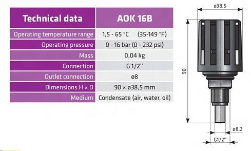 конденсатоотвдчик aok16b