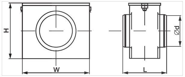 Фильтро-боксы для круглых каналов